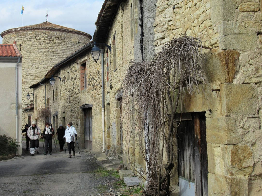 le joli village d'Espirat (1er mars 2018)
