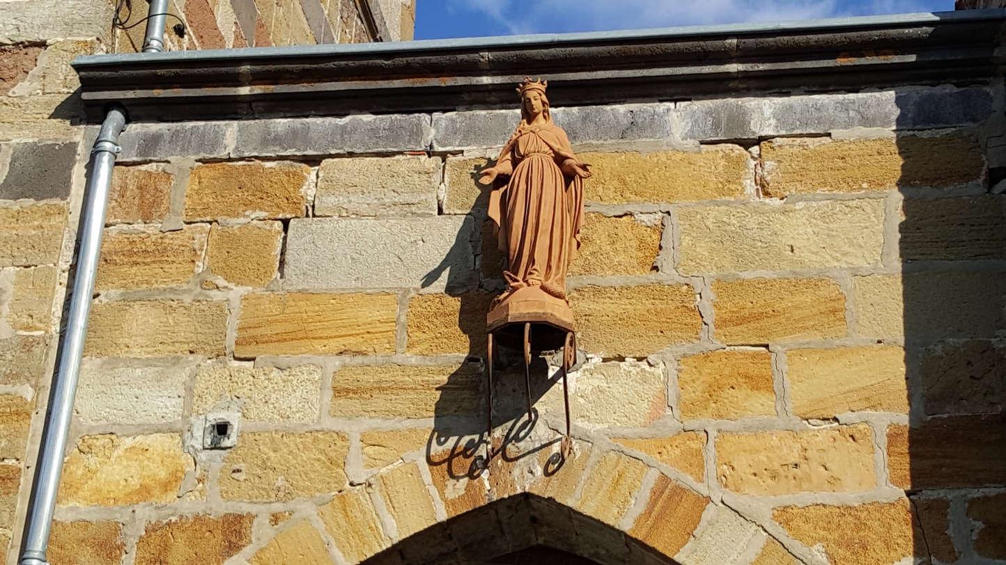 la vierge de St George sur Allier (21 mars 2018)