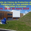 2018 Mars : Visite de l\'usine de production d\'eau potable à Cournon