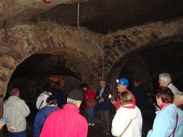 Visite des caves de l'Hôtel Dieu (novembre 2009)