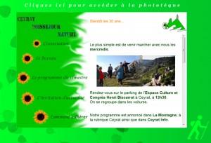 Site internet de Ceyrat Boisséjour Nature