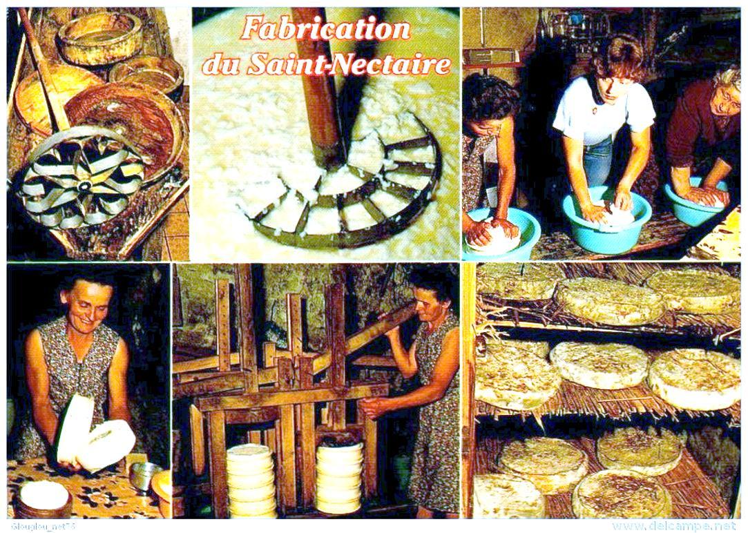 La fabrication artisanale du St Nectaire.